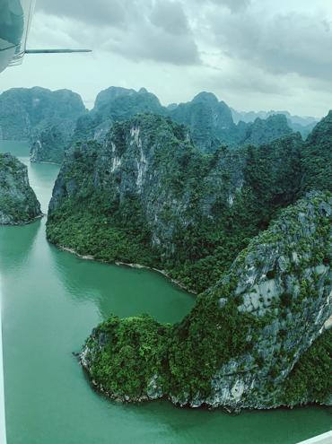 Baie d'Halong vue du ciel